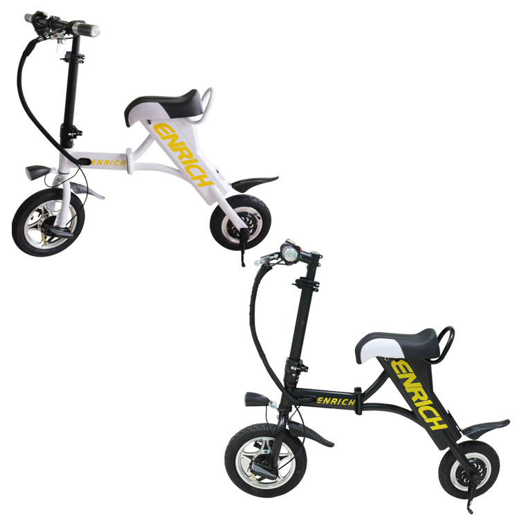 2 Colors Mini Foldable Electric Bike with Seat