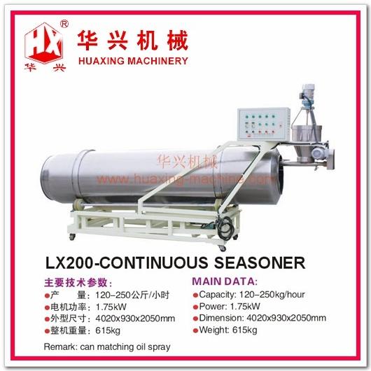 Lx200-Continuous Seasoner (Snack Food Seasoner120-250Kg/h)