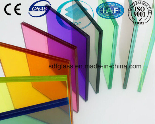 Double Clear+Colored PVB Laminated Glass with CE, ISO