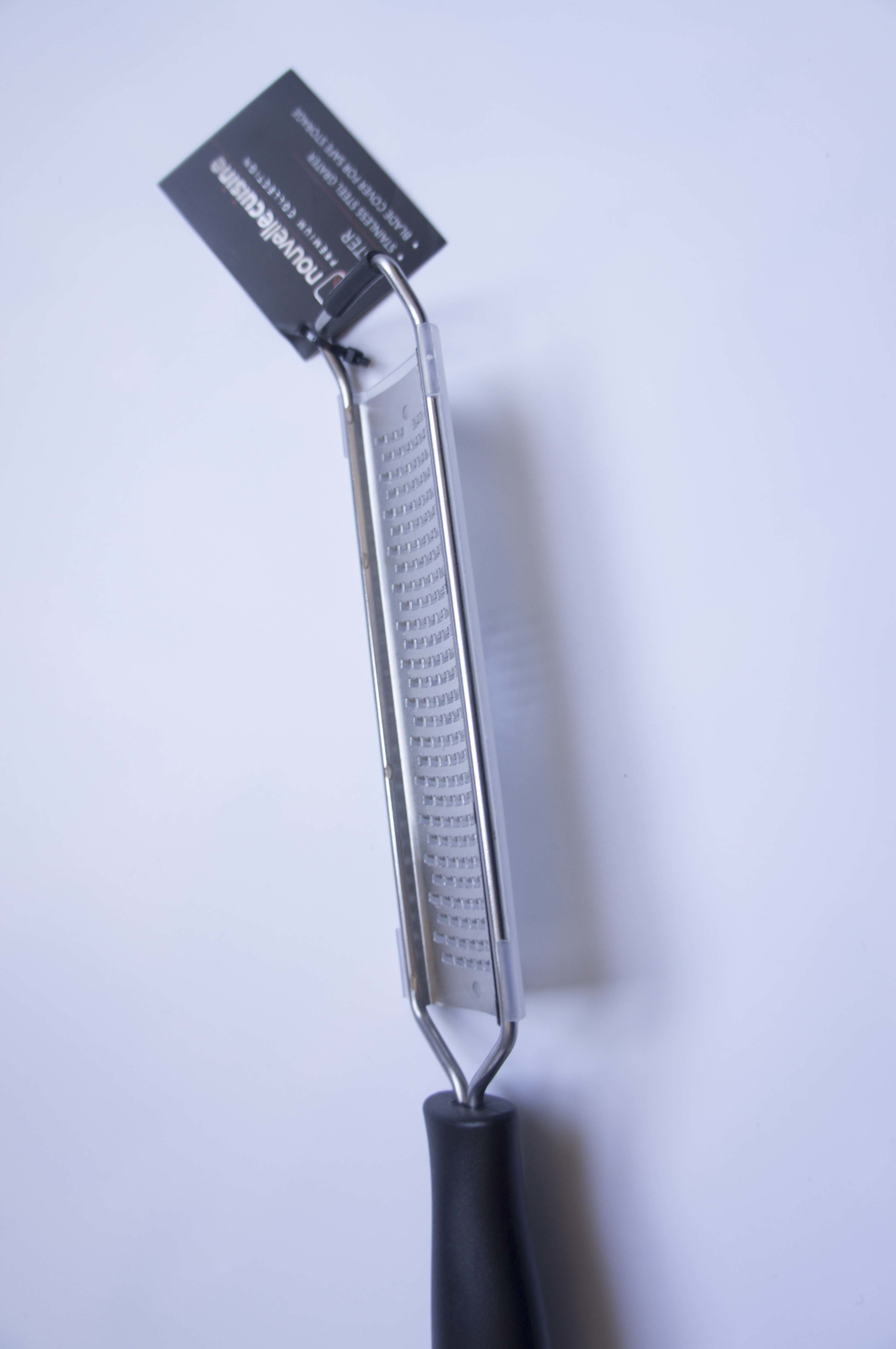 Citrus Lemon Zester & Cheese Grater Stainless Steel, Non-Slip Footing and Very Sharp
