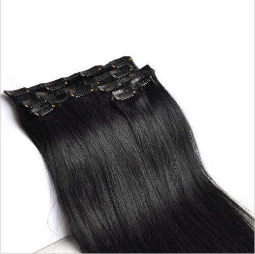 Indian Remy Clip in Human Hair Extensions