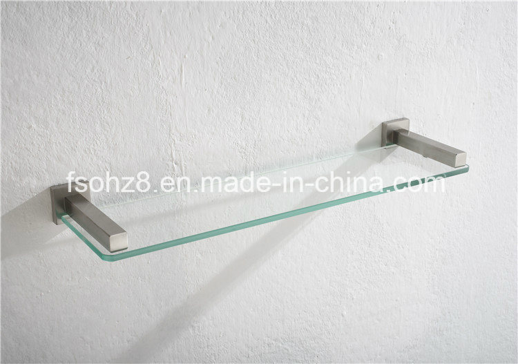 Stainless Steel Wall-Mounted Bathroom Accessory Glass Shelf (2605)