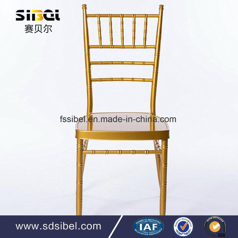Aluminum Metal Resin Stacking Dining Chiavari Chair for Hotel Restaurant Banquet Wedding