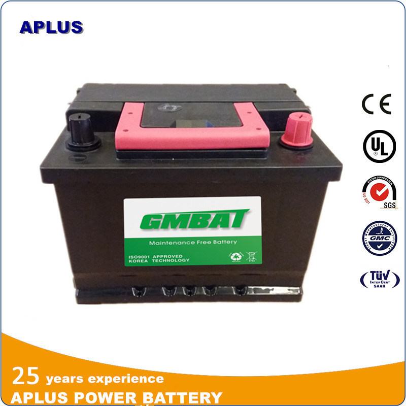 DIN Maintenance Free Car Battery Mf 55530 12V55ah for European Car