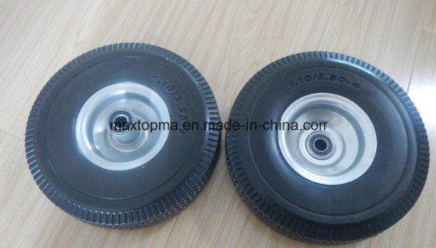 Maxtop Solid Rubber Flat Free PU Foam Wheel