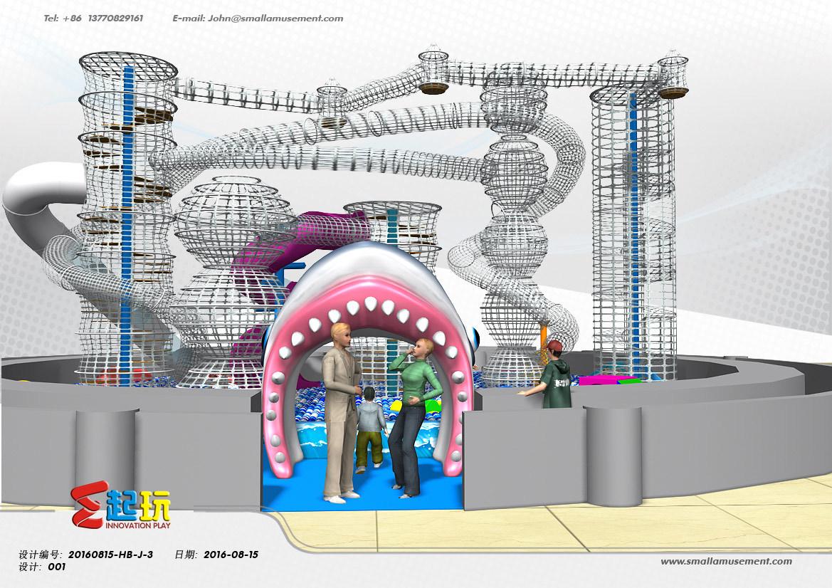 Junior Area of Ocean Themed Indoor Kids Playground