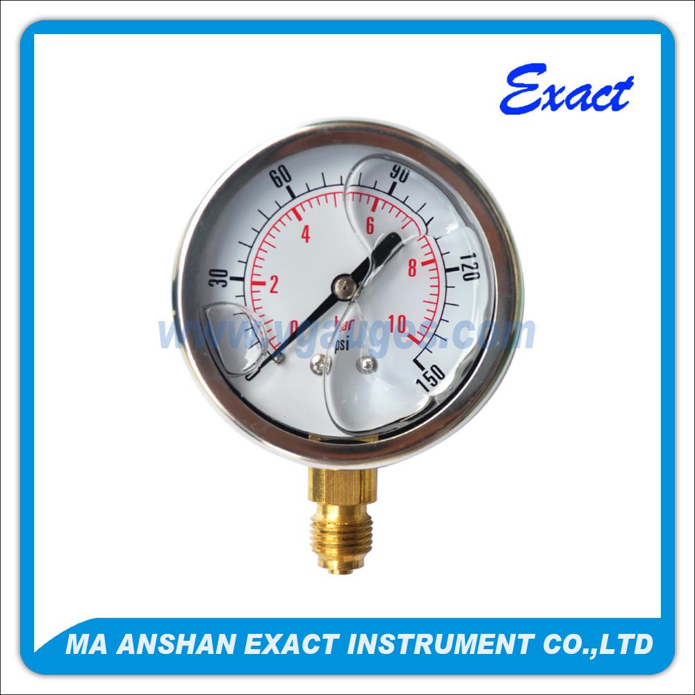Liquid Filled Pressure Gauge - Stainless Steel Gauge - Mechanical Manometer