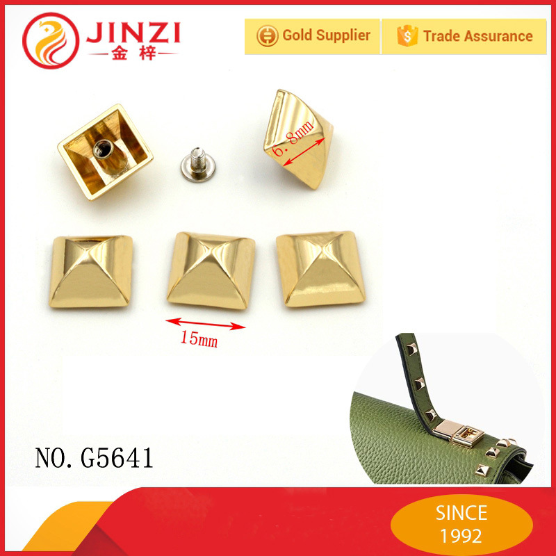 Fashion Pyramid Shinning Decorative Metal Stud Rivet for Bag Parts