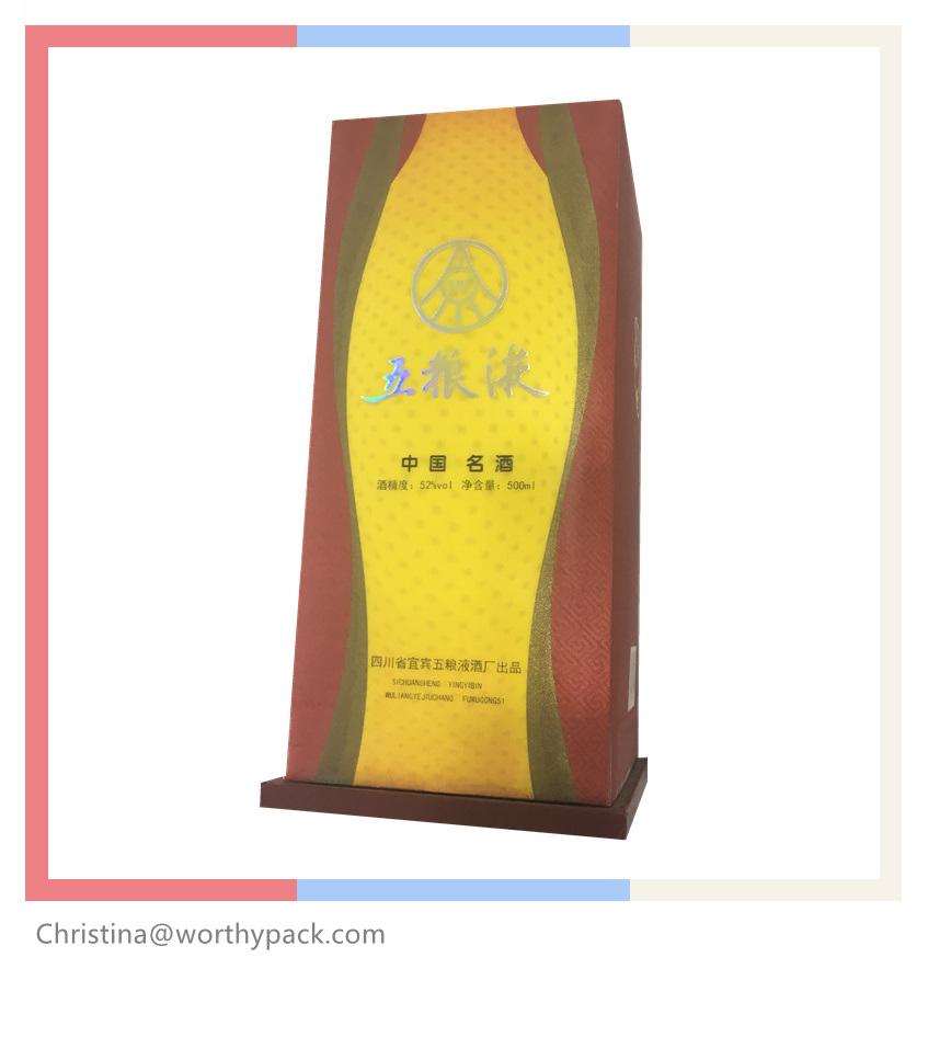 3D Lenticular Printing Wine Packaging Plastic Box