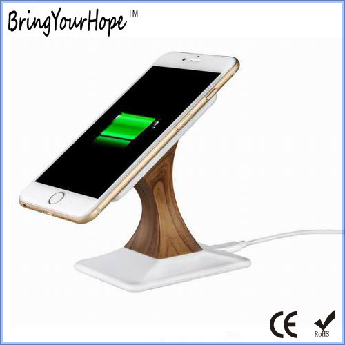 Wooden Finished Phone Stand Wireless Charger (XH-PB-213)