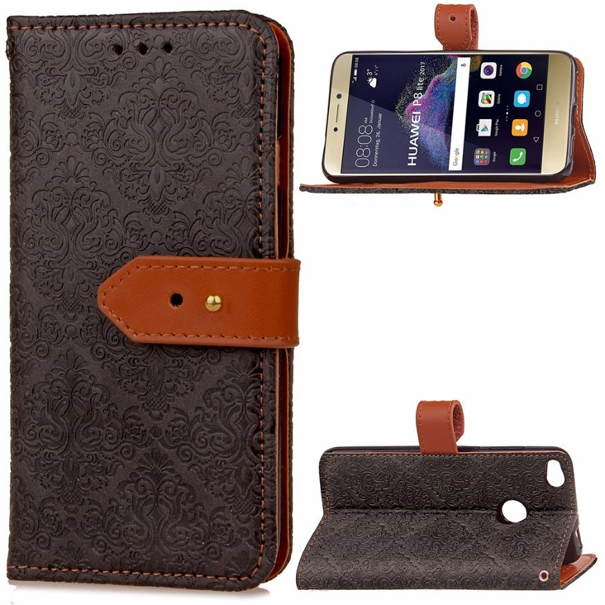Embroidery Leather Case for Huawei P8 Lite 2017