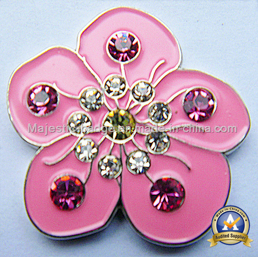 Colorful Flower Golf Ball Marker (MJ-Golfball Marker-044)
