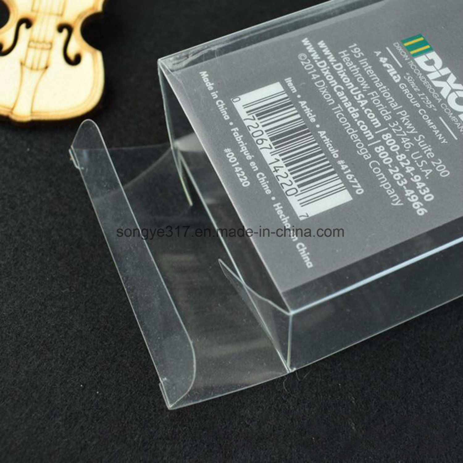 Manufacturers Custom Transparent Plastic Folding Box