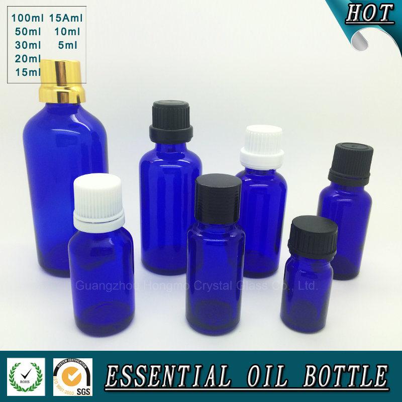 Cobalt Blue Glass Essential Oil Bottle 5ml 10ml 15ml 20ml 30ml 50ml 100ml