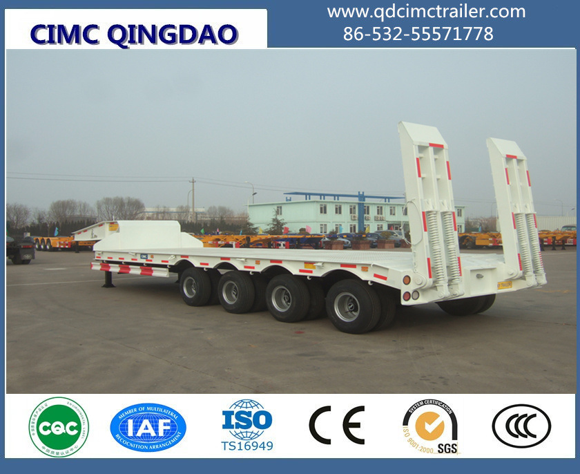 3 Axle Low Bed Excavator Transport Trailer