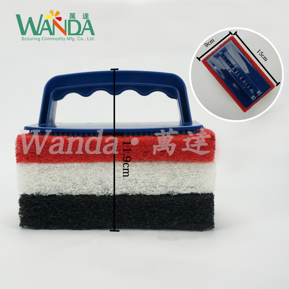 Thickening Replaceable Floor Pools Kitchen Cleaning Brush Scrubbers with Handle
