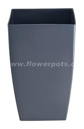 Tall Square Plastic Flowerpot (KD4909)