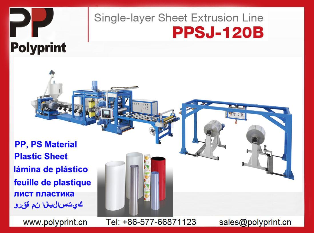 PP Material Sheet Extruder (PPSJ-100)