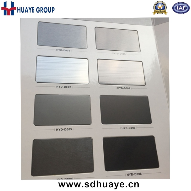 Grey Colored Stainless Steel Wall Pane PVD Plating