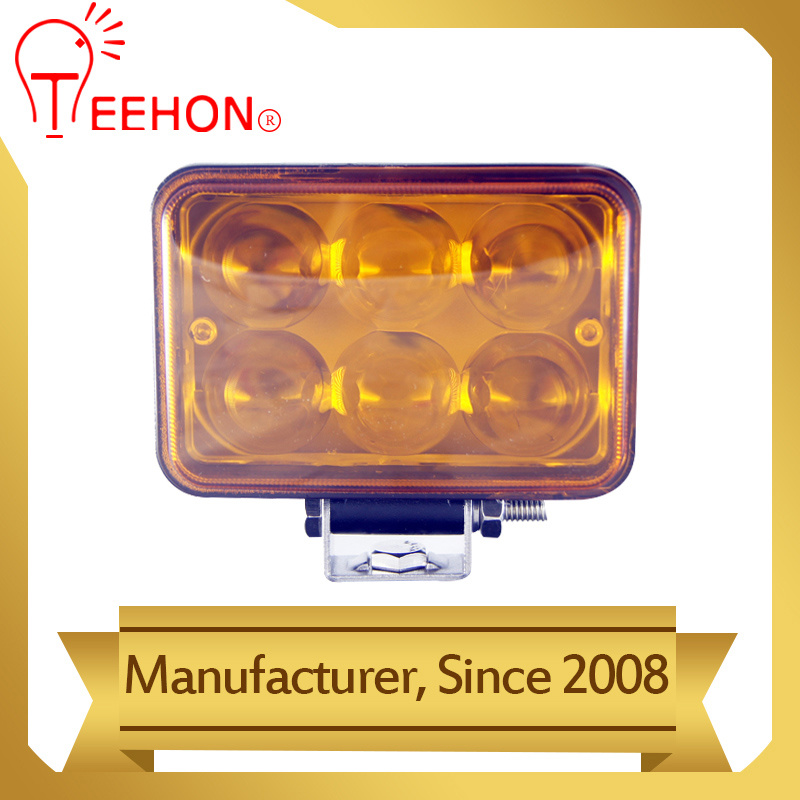 18W Offroad LED Working Fog Light with 4D Amber Lens
