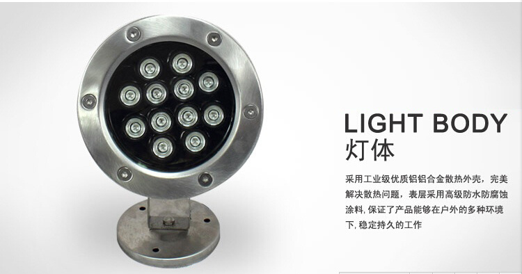 Pond Waterproof Lighting /Good Quality LED Underwater Light/ LED Underwater Fountain Lighting (HL-PL03)