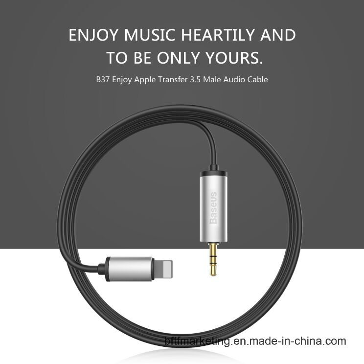 New Lightning to 3.5mm Male Audio Cable 1.2m 2m Jack Aux Adapter for iPhone