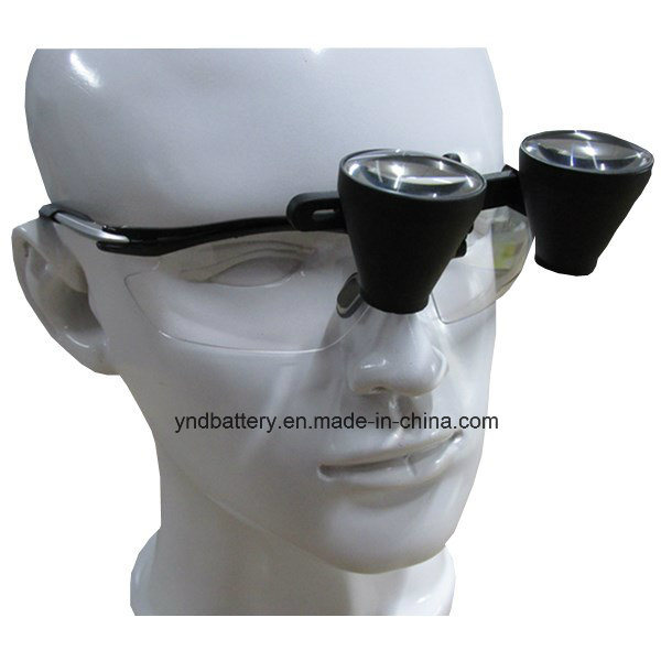 2.5X Magnification Optical Glass Portable LED Headlight Dental Binocular Loupe