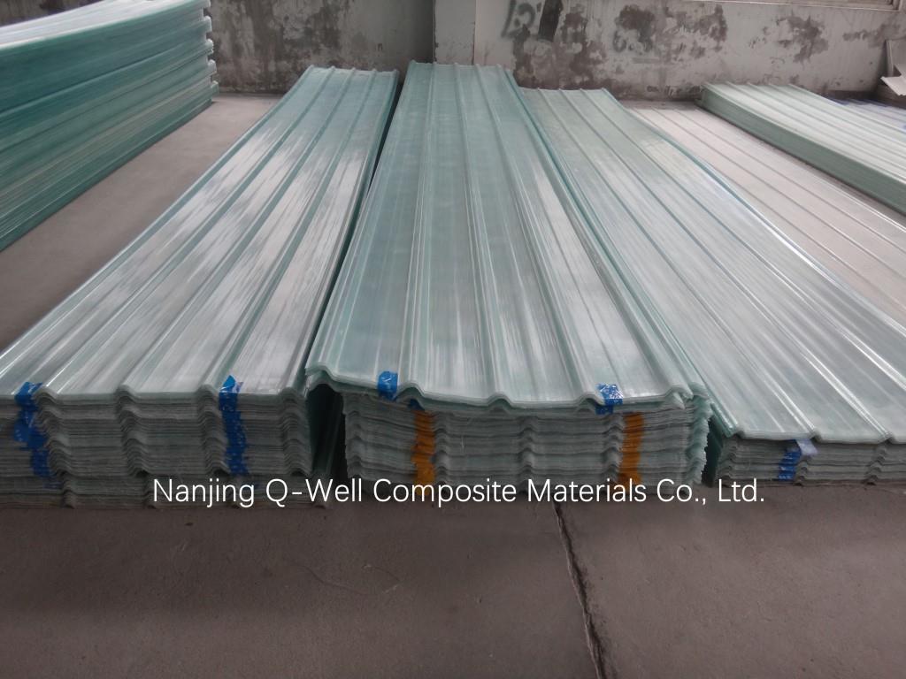 FRP Panel Corrugated Fiberglass/Transparent Fiber Glass Roofing Panels W171025