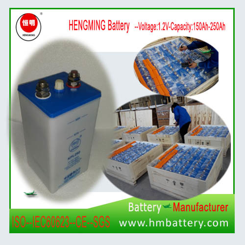 Ni-CD Alkaline Rechargeable Battery Kpl250 for Lighting, Metro, Railway Signaling.