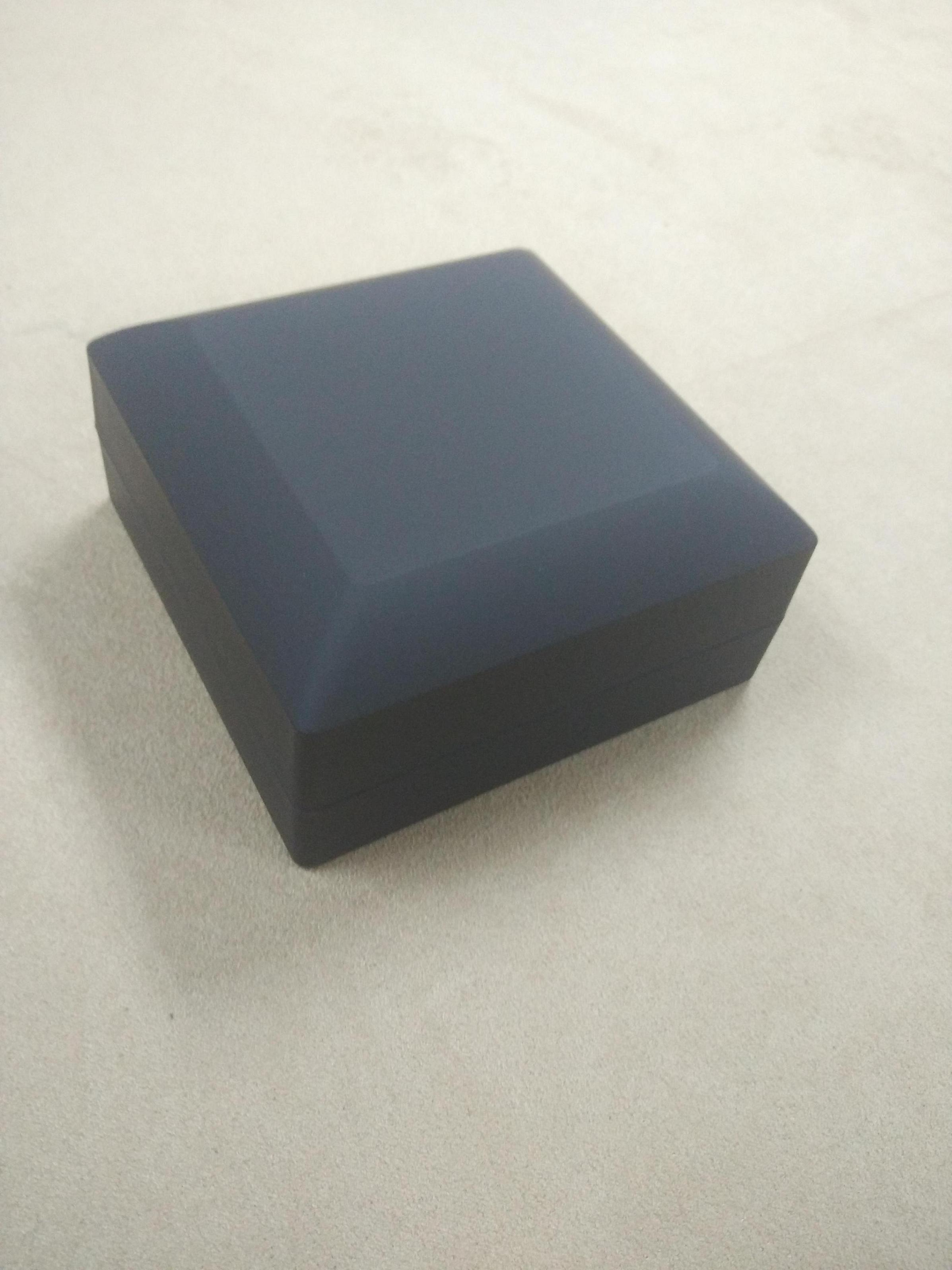 Black Rubber Paint Jewelry Plastic Box