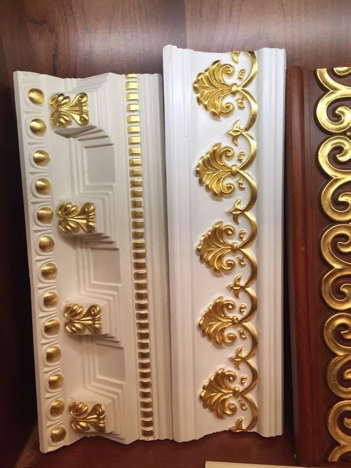 PU Foam Decoration Material for Interior Trim, PU Cornice Mouldings