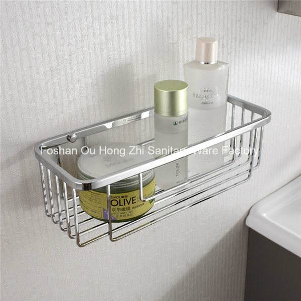 Corner Stainless Steel Bathroom Accessories Net Storage Rack Shelf