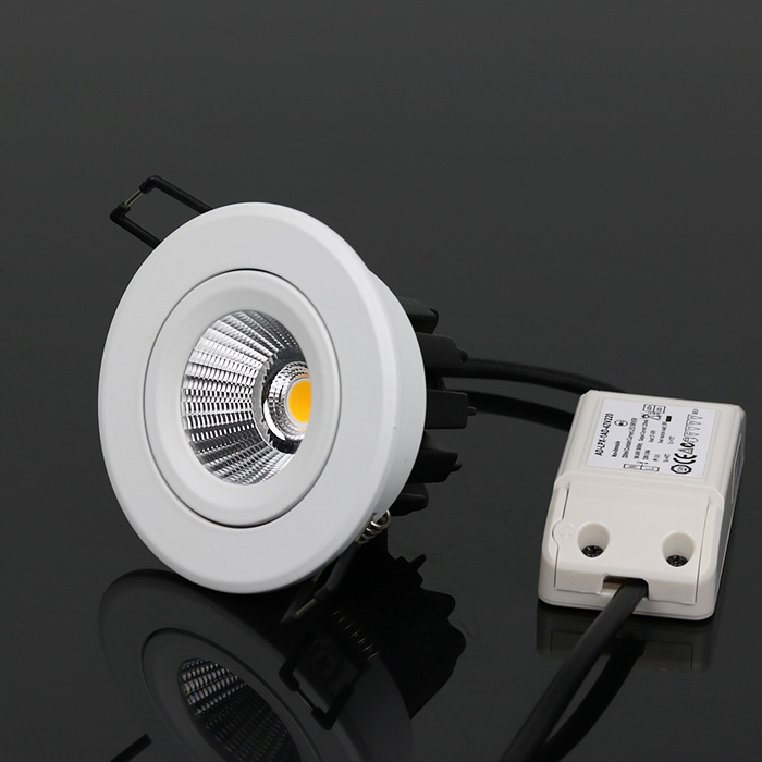 Aluminium Recessed LED COB Downlight 12W