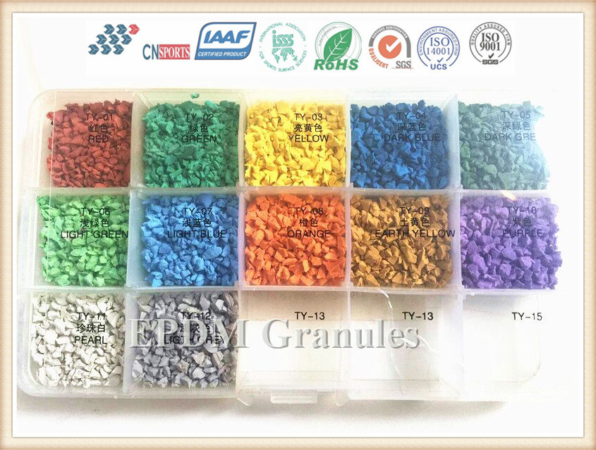 Rubber Floor Tile Materials Colored EPDM Rubber Granules