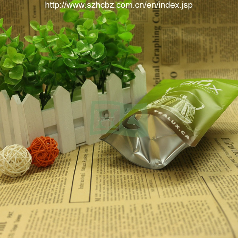 Stand up Foil Green Tea Bag Tea Pouch