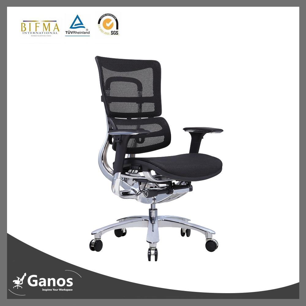 Smartest Armrest High Back Boss Working Chair with Lumbar Support