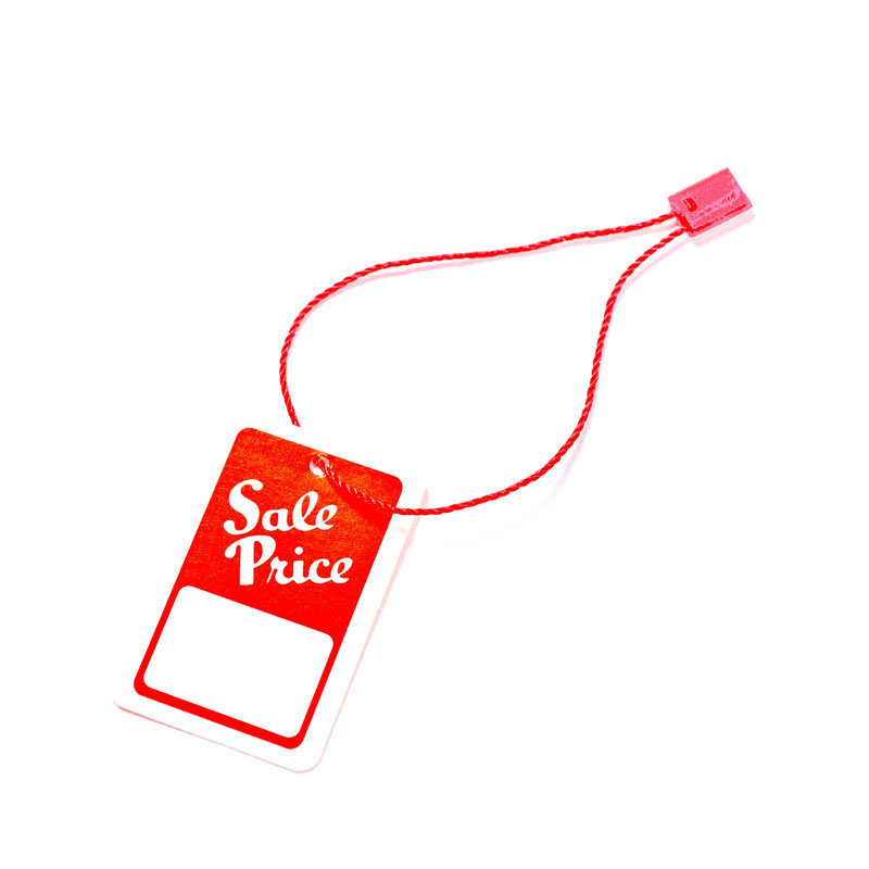 Colorful Plastic Seal String Hang Tag for Garment Packing (DL58-1)