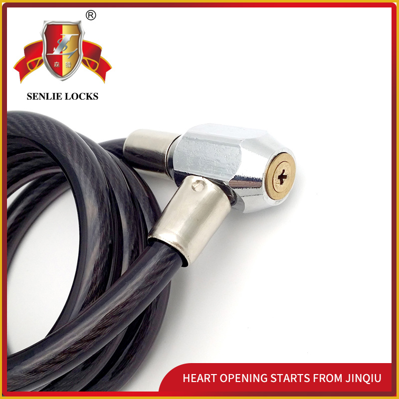 Jq8224-Q Two Colors Safety Spiral Bicycle Motorcycle Lock Cable Lock