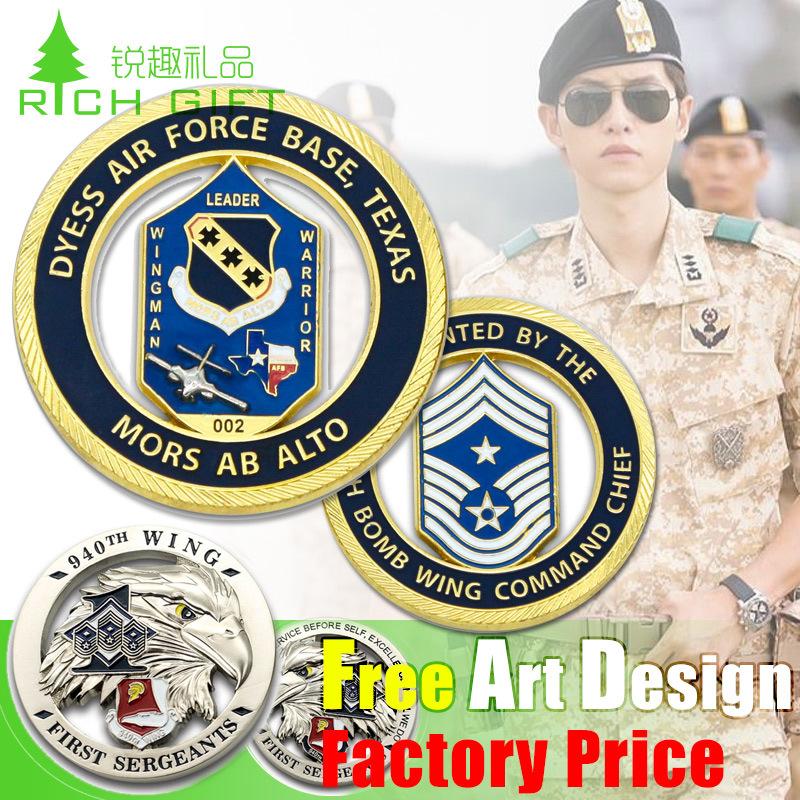 Custom Metal Souvenir/Plastic/Military/Trolley/Token/Police/Double/24k 3D Gold/Silver/Challenge Coin Maker No Minimum