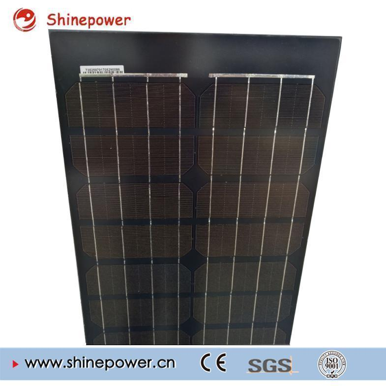Black Glass Long Size Mono Solar Panel