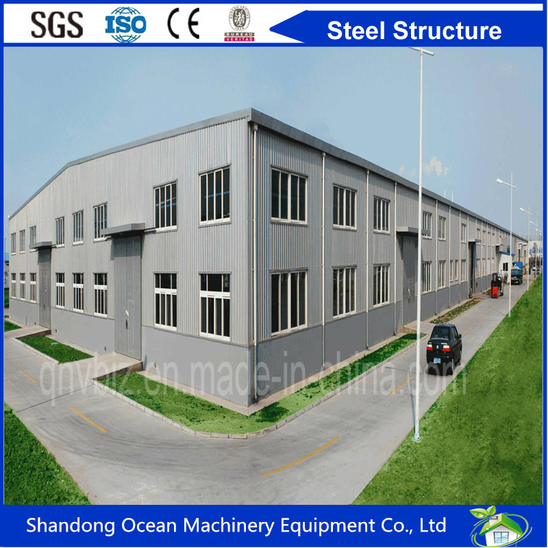 Cost Saving Prefabricated Steel Structure Cladding with Color Steel Sheet or Sandwich Panel for Warehouse/Workshop