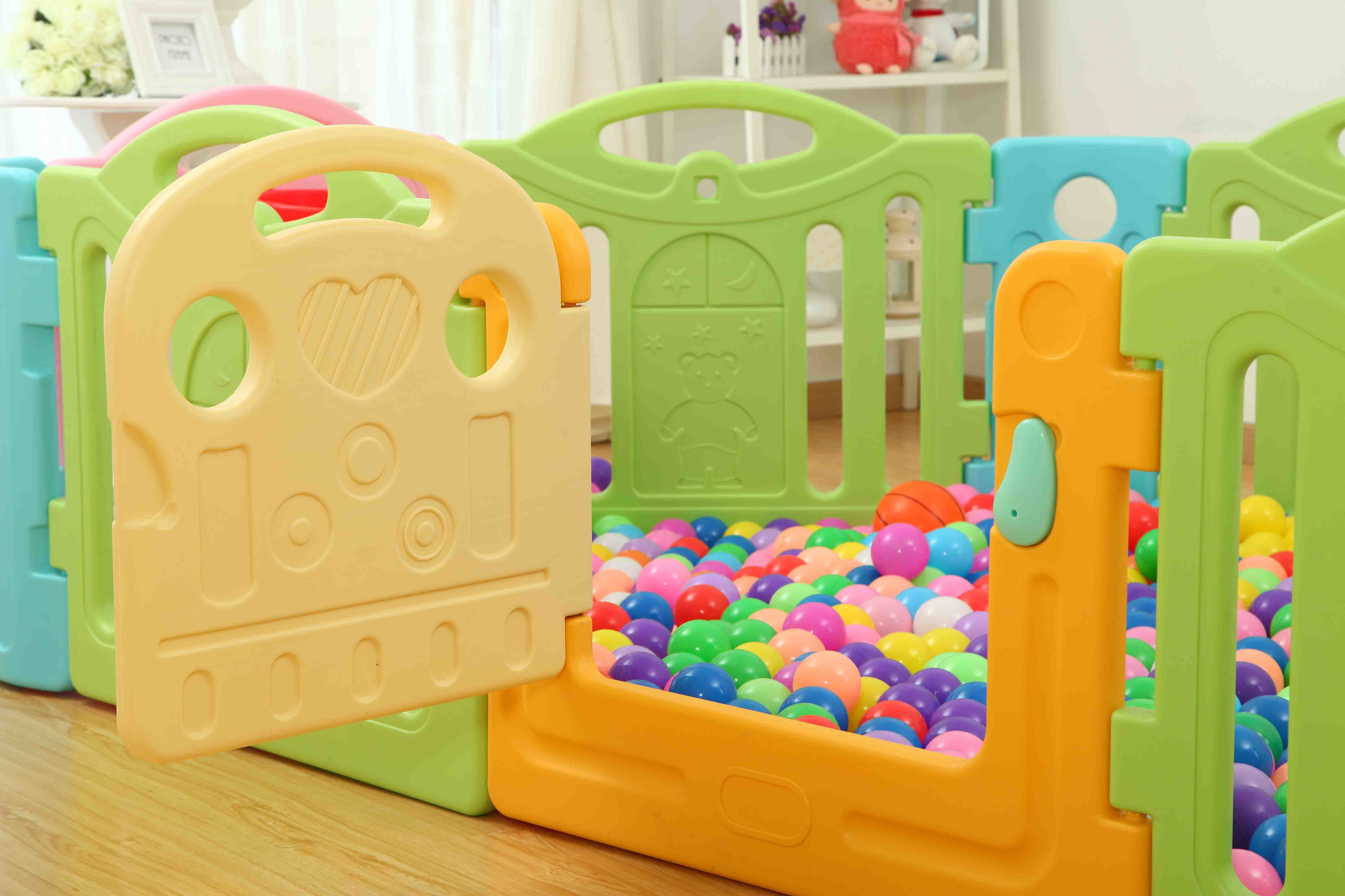 2017 Macarongs Baby Safety Plastic Playpen Factory Direct (HBS17034A)