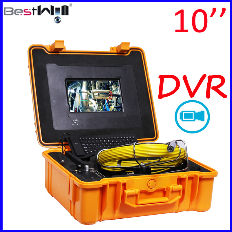 10′′ Digital Screen DVR Video Pipe/Sewer/Drain/Chimney Inspection Camera 10G