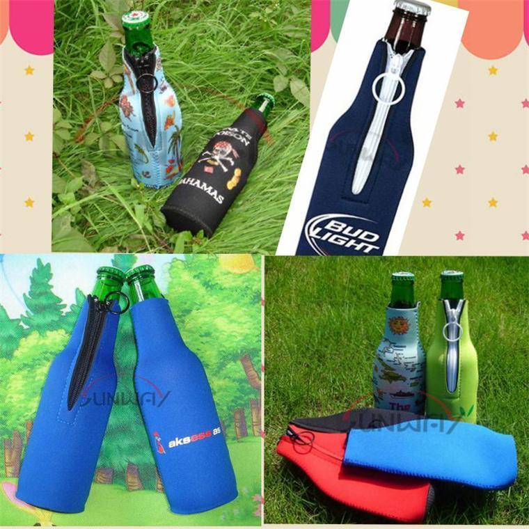 Neoprene Insulated Beer Beverage Bottle Holder Drink Bottle Cooler (BC0003)