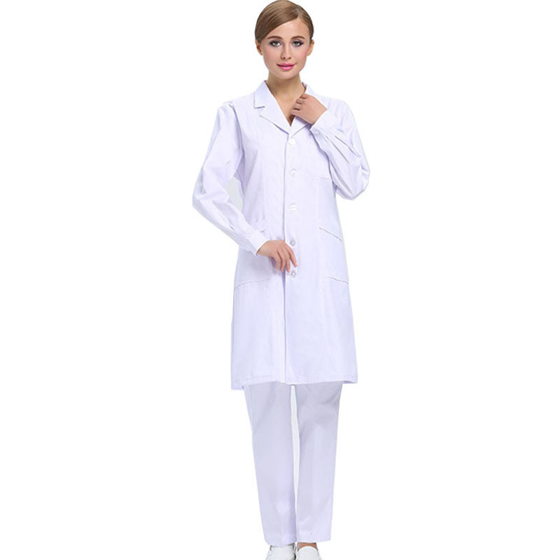 Hot Sale Medical Wear White Lab Coat of Cotton