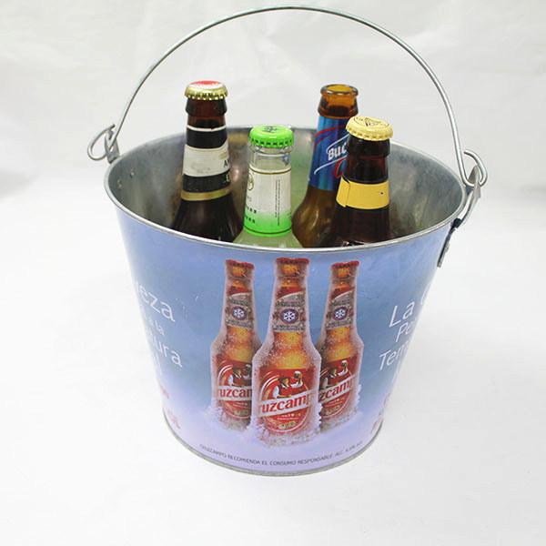 Green Color Metal Ice Tin Beer Cooler Bucket