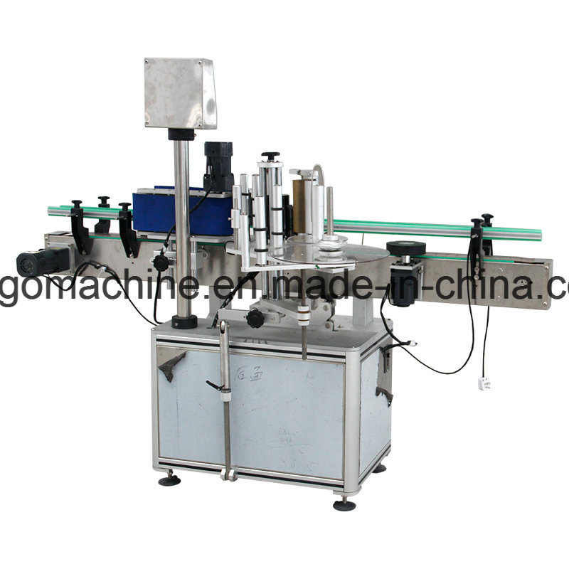 Round Bottle One Side Adhesive Sticking Machine for Shampo Detergent Bottle