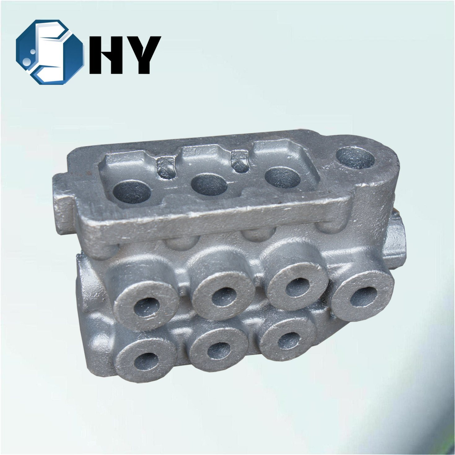 Wrought Iron Car Parts Flywheel Control Valve Body Sand Casting