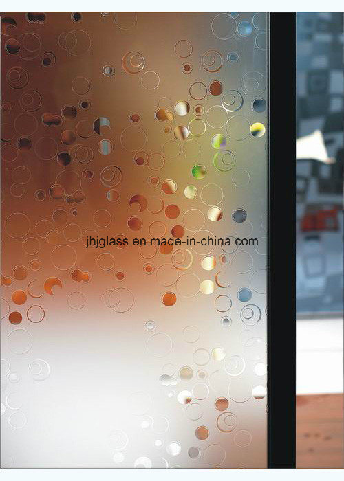 4mm to 6mm Frosted Glass, Decorative Glass, Concave Glass for Door