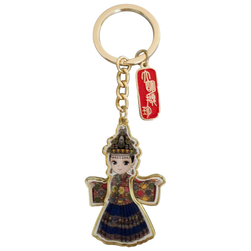 Spinner Keychain with Charm (CXD-K009)